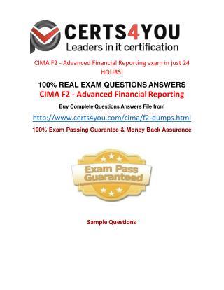 Cima F2 Exam Questions