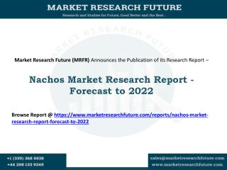 Nachos Market 2016: Company Profiles, Market Landscape, Demand and Forecast - 2022