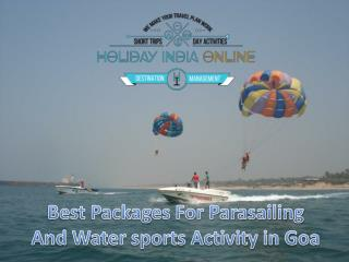Best Packages For Parasailing And Watersports Activity in Goa