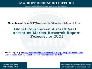Global Commercial Aircraft Seat Actuation Market Research Report- Forecast to 2021