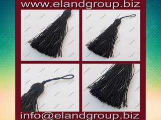 Black Silk Key Tassel