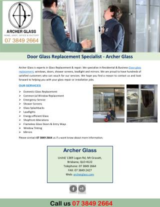 Door Glass Replacement Specialist - Archer Glass