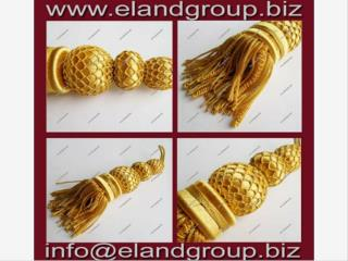 French Golden Bullion Tassels