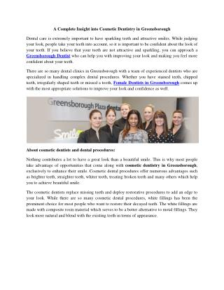 A Complete Insight Into Cosmetic Dentistry in Greensborough