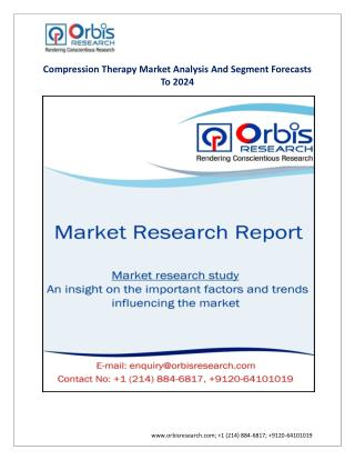 compression therapy market, compression therapy industry 2022, market size, industry analysis, orbisresearch