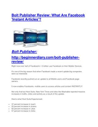 Bolt Publisher review and Exclusive $26,400 Bonus