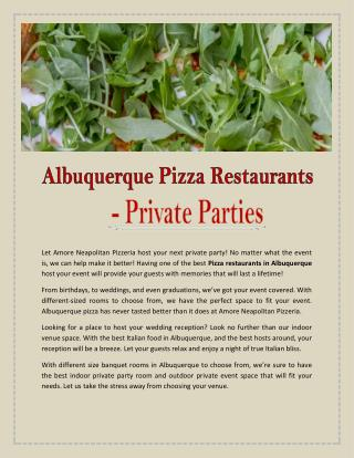 Albuquerque Pizza Restaurants