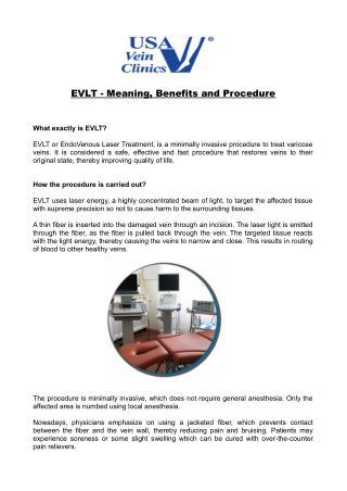 EVLT Benefits & Procedure - USA Vein Clinics