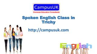 Spoken English Class in Trichy - CampusUK