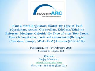 Plant Growth Regulators Market aided by shooting population & inevitable need for plant care.