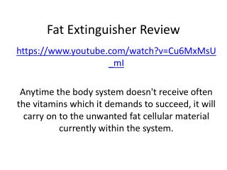 Fat Extinguisher Review