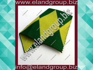Yellow With green Edges Moire Ribbon