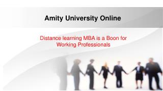 MBA Distance Learning Programs - Amity Online