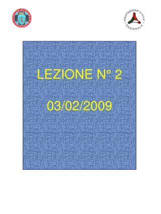 LEZIONE N  2  03
