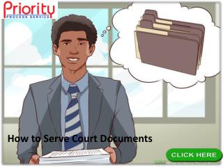 How to Serve Court Documents