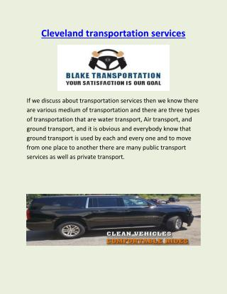 Cleveland transportation services