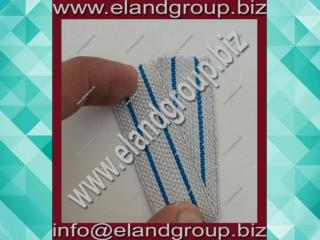 Fancy Military white with blue line Braid small