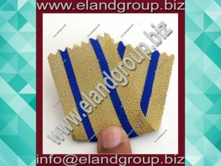 Gold Lace Double Dark Blue Stripe Uniform Army Fancy Military Braid