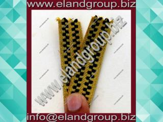 Golden Lace Black Stripe Fancy Military Braid