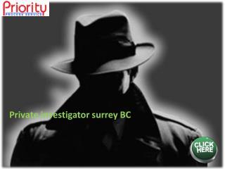 Private investigator surrey BC