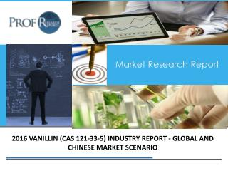 Vanillin Industry, 2011-2021 Market Research