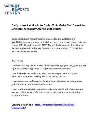 Confectionery Global Industry Guide -2016