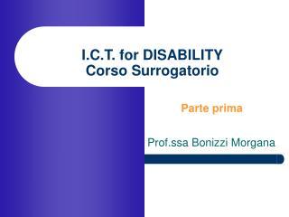 I.C.T. for DISABILITY Corso Surrogatorio
