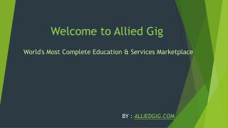 World's Most Complete Education & Services Marketplace