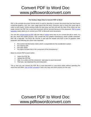 Convert PDF to Word for Free - PDFtoWordConvert.com