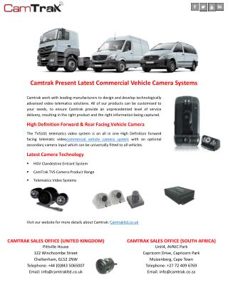 Camtrak Present Latest Commercial Vehicle Camera Systems