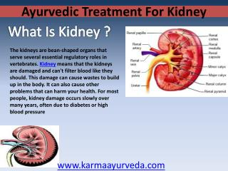 Ayurvedic treatment for kidney