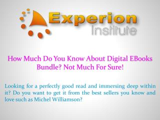 How Much Do You Know About Digital Ebook Bundle? Not Much For Sure!