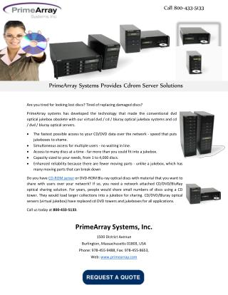 PrimeArray Systems Provides Cdrom Server Solutions