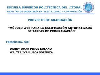 ESCUELA SUPERIOR POLIT CNICA DEL LITORAL FACULTAD DE INGENIER A EN  ELECTRICIDAD Y COMPUTACI N