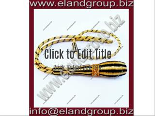 Black & Gold Sword Knot