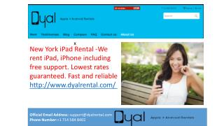 Rent the latest iPhones and iPads from Dyal Rentals today
