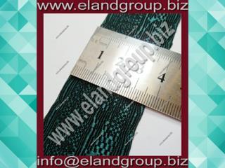 Dark Green Oak Leaf Lace