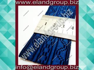 Deep Navy Blue Silk Lace