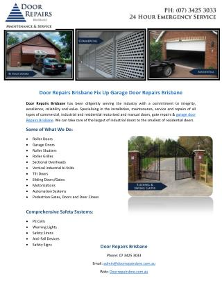 Door Repairs Brisbane Fix Up Garage Door Repairs Brisbane