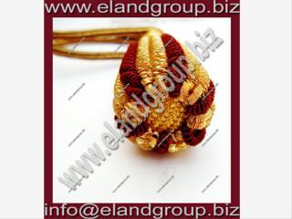 Gold & Burgundy Sword Knot