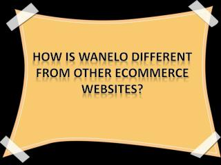 How is Wanelo different from other ecommerce websites?