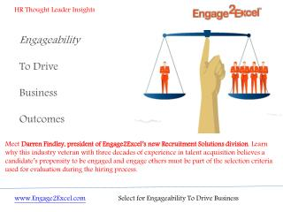 Select for Engageability To Drive Business