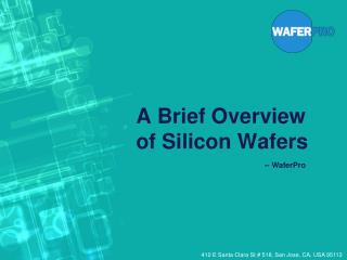 A Brief Overview of Silicon Wafers