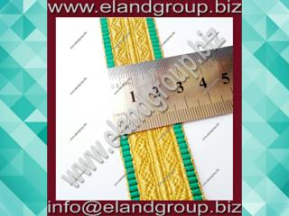 Gold Mylar Lace With Green Edges