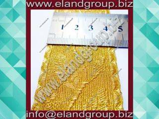 Gold Mylar Oak Leaf Gold Lace