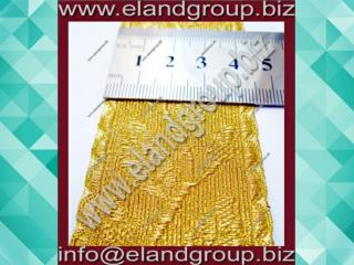Gold Mylar Oak Leaf Lace
