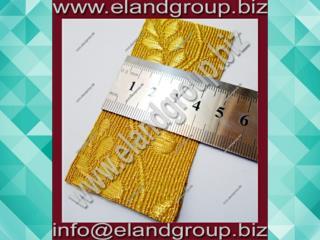 Gold Mylar Oak Leaf Lace  Gold