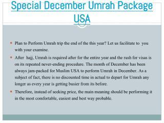 Special December Umrah Deal