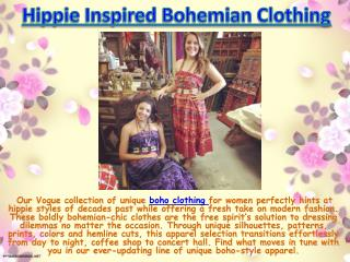 Hippie Inspired Bohemian Clothing