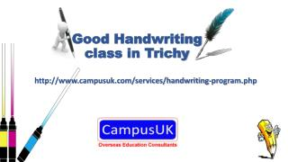 Good handwriting class in Trichy